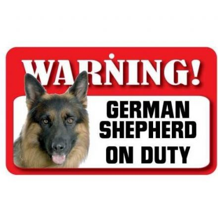 German Shepherd Dog Pet Sign